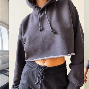 Aritzia cropped hoodie sz 2